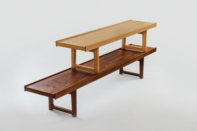 The bench is available in two lengths and heights.