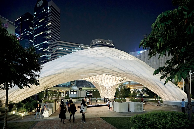 Small Project of the Year: ZCB Bamboo Pavilion in Kowloon Bay, Hong Kong, by The Chinese University of Hong Kong School of Architecture.