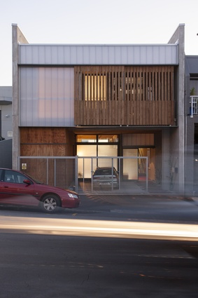 City House, Auckland, from the street. Designed with Andrew Kissell and built in 2014.