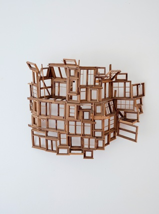 "Stephen Brookbanks sculptures.""I met Stephen years ago when we were studying architecture together and he was always making these amazing sculptures from wood and glue."""