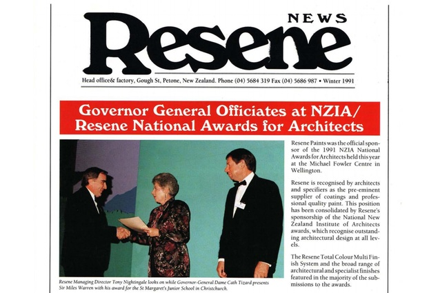 1991 was the inaugural year of what is now 25 years of continuous sponsorship of the National Architecture Awards.