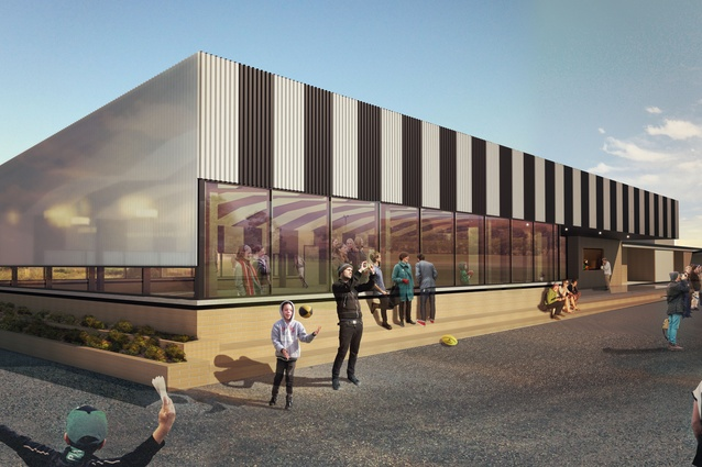 A render of the Kalora Park Football Club Extension by Wowowa.