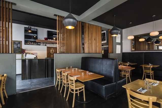 Commercial Interior Architectural Design Award: Freemans Restaurant, Lyttleton by Nic Curragh of Objects Ltd.