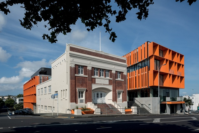 The new building wraps around the existing Orange Coronation Hall, built in 1922.