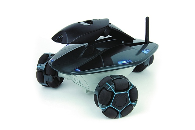 For the dog: WowWee Rovio WiFi-enabled robotic webcam, approx. $610; wowwee.com