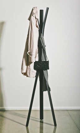 The Peel coat stand, available at Simon James Design and The Department Store in Auckland, and at Zohar in Mount Maunganui.
