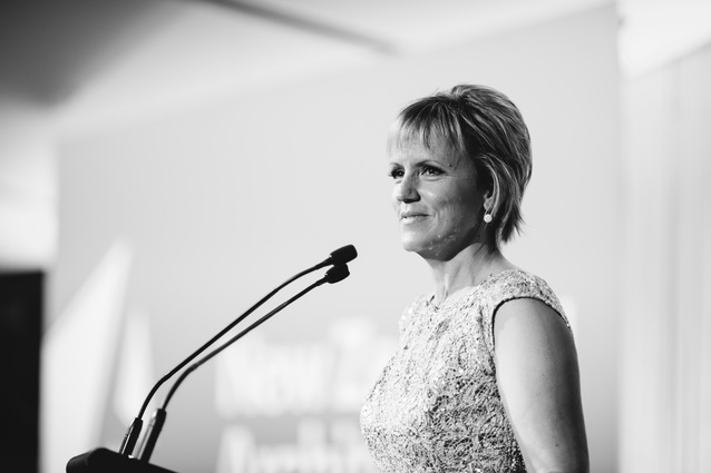 The MC of the night, Hilary Barry.