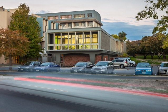 Heritage Award: Secondary Data Centre Refurbishment – University of Canterbury by Warren and Mahoney. West and (part) south elevation.