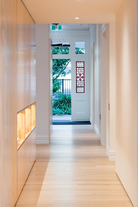 The main hallway that leads from the villa's front door serves as the entrance to the studio.