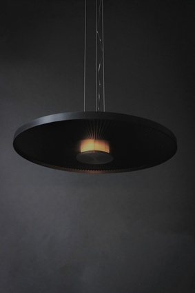 The Dawn Pendant is an exploration of materiality and the ways in which light reflects off it.