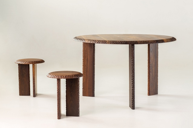Serie tables by Garth Roberts for Mabeo.