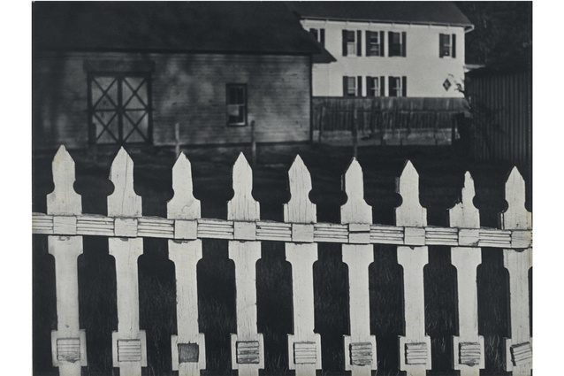 <em>White Fence, Port Kent, New York</em>, 1916.