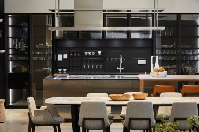 The Phoenix kitchen features a central cooking hub, which allows resident cooks to engage with guests and members of their families whilst they're preparing food.