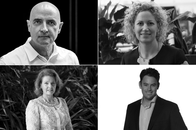 The four new NZGBC board members: Patrick Clifford, Anna Palairet, Brendon Dwyer and Robyn Phipps (clockwise).