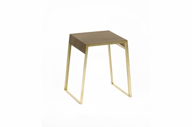 Goldie side table by metalworks designers and manufacturers Powersurge.