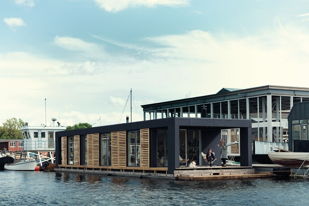 "The 'less is more' <a href=""http://urbismagazine.com/articles/on-the-waterfront/"" target=""_blank""><u>Copenhagen Houseboat</u></a>, designed by owners Laust Norgaard and Lisbeth Jull."