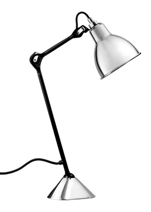 """205 La Gras table lamp in chrome by DCW 