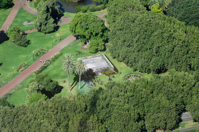 The 2017 MPavilion by Rem Koolhaas and David Gianotten of OMA will be located in Melbourne's Queen Victoria Gardens.