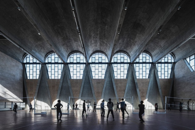 Buildings in use: Gymnasium of the New Campus of Tianjin University, China, by Atelier Li Xinggang, photographed by Terrence Zhang.