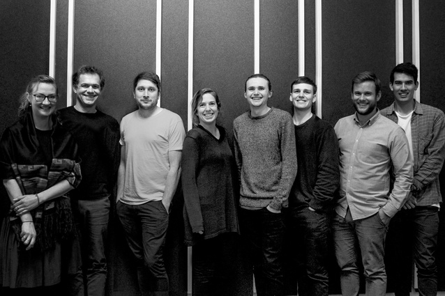 The First Light Studio team in their Wellington offices.