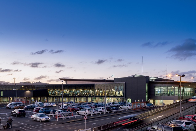Low-lying, but with light through its centre, the new terminal shines at night. Plenty of daylight is able to stream in through its woven exterior.
