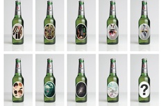 Music and art inspired bottles
