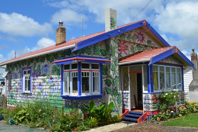 Resene Total Colour Creative in Colour Award: Morningside's House of Flowers by Brigid Sinclair.