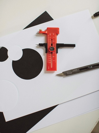 Circle cutter: A recent addition to the modelling toolbox, I'm not sure how I survived so long without this simple 'compass with a blade'. It's amazing what you can create with a sheet of card, a hot glue gun and a box of scalpel blades… leaves any CAD rendering software for dead.