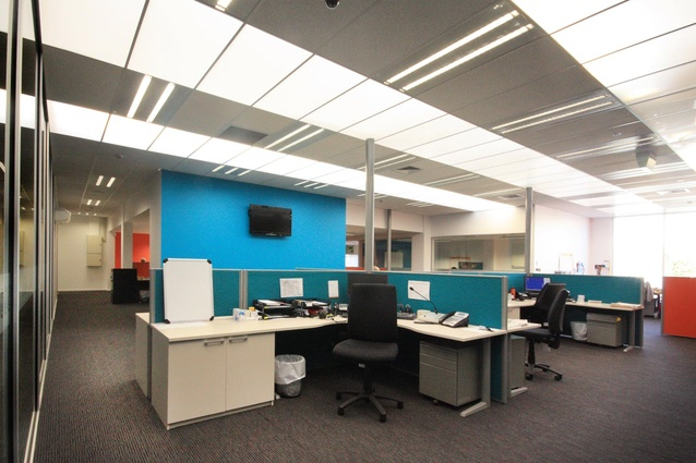 Commercial Interior Office Colour Maestro Award winner - Element 17 for the Radio Network Christchurch.