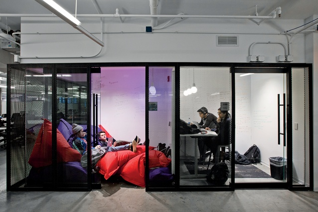 The Garage at Northwestern University in Evanston, Illinois, US, looks like a bean-bag factory but is actually 'a hub for student entrepreneurship and innovation' that works across various disciplines.