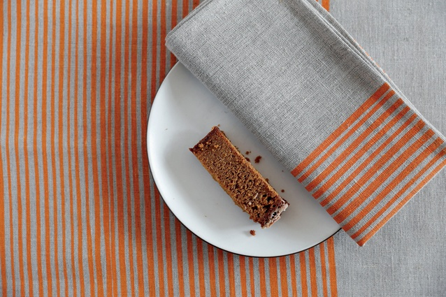 Napkins and tea towels in 'Thin Stripes' fabric.