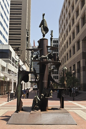 Sculptor John Skotnes' Mythological Landscape in Thibault Square.