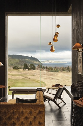 Expansive views across the lake can be seen from all the rooms, including the bar.
