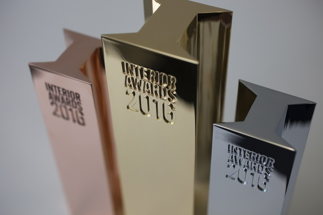 Trophies from the 2016 Interior Awards.