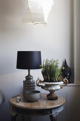 Objects and artefacts from her travels give a rich sense of history to the home.