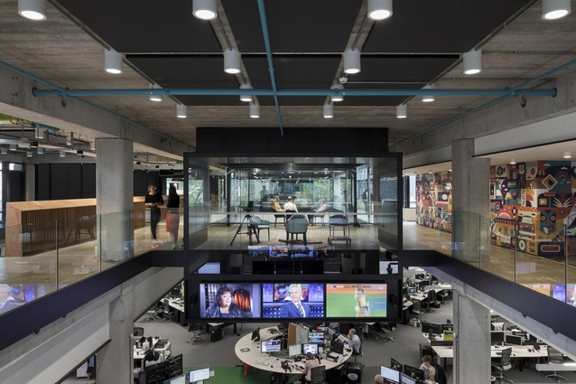 Finalist: Workplace over 1,000m<sup>2</sup> – TVNZ Television Network Centre Refurbishment by Warren and Mahoney Architects.
