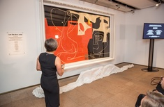 Corb's tapestry for Utzon home at last