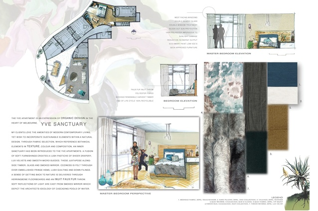 Assessment board – Interior Decoration & Design First Prize: Amelia Williams.