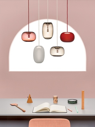 Design Junction: Örsjö 'Pebble' pendant lighting designed by Joel Karlsson.