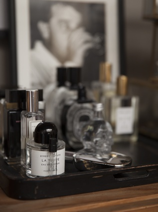 """Perfume collection: """"I am just as obsessed with scent as I am with food; I like that it can affect your mood so much. I have a diverse collection of perfumes."""""""
