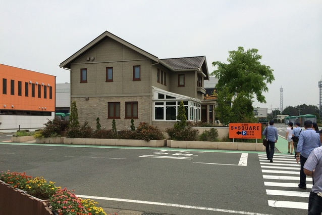 A Sekisui Heim display house at Aichi factory, Japan. Japanese prefab housing comes with a standard 20-year warranty.