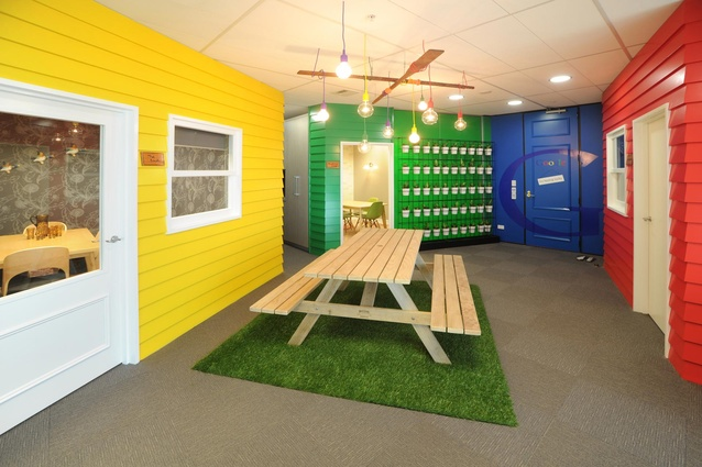 Commercial Interior Office Colour Maestro Award winner - Google Office Fitout by Spaceworks Design Group.