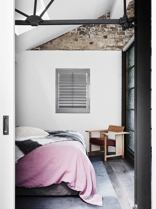 In the bedrooms, new timber floors offset 