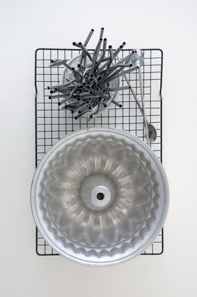 """Cake tin and metal straws: """"I found this antique cake tin in a thrift shop. I adore the shape and details. The metal straws came from Moore Wilson's and I use them for cocktails or ice cream floats."""""""