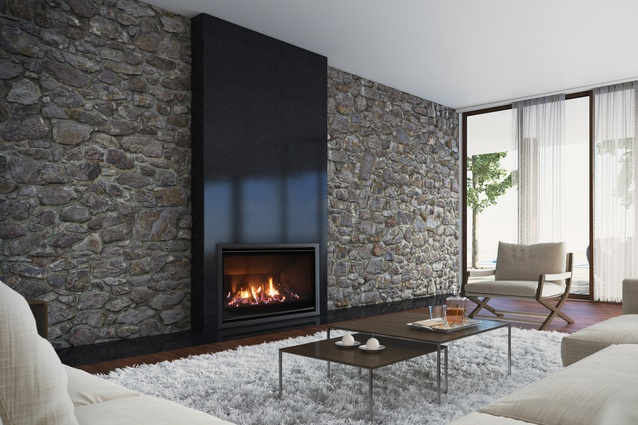 Fireplace by Dunedin-based design and manufacturing company Escea.