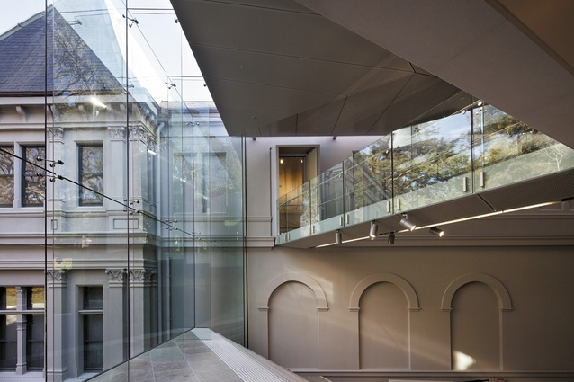 The southern atrium slots between the Wellesley Gallery and the East Gallery.