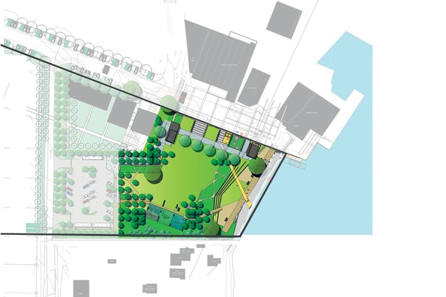 A plan of the park.