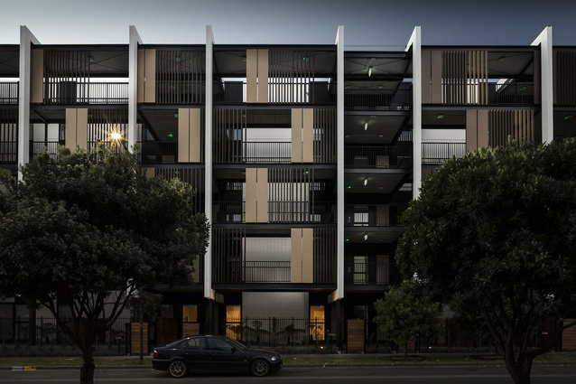 Housing – Multi Unit category finalist: Verto Apartments, Auckland by Warren and Mahoney Architects.