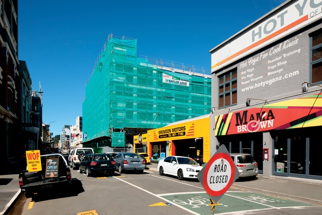 The Courtenay Central Car Park at 100 Courtenay Place was closed as a result of the earthquake.