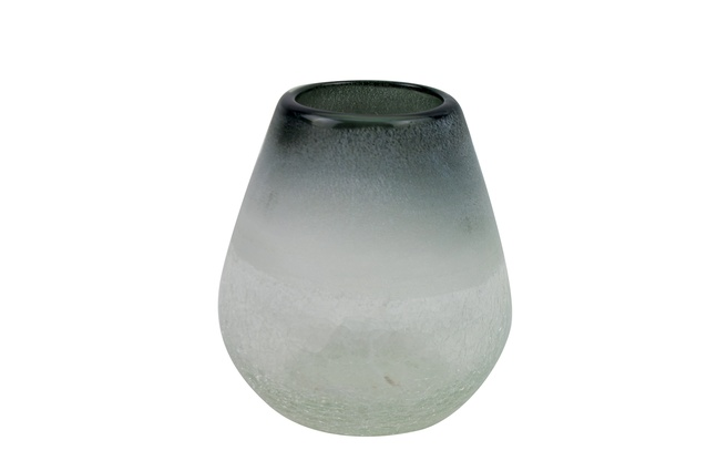 May Time Frosted Glass Vase Grey/Clear Short | $72 from <a 